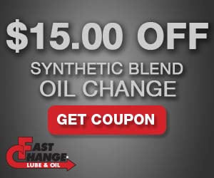 $15 Off Synthetic Blend Oil Change Coupon Promo Code: JFS310 U2013 Expires  11/30/2017. U2013 Additional Disclaimers U2013  Coupon Disclaimers