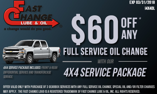 Rapid oil change coupons