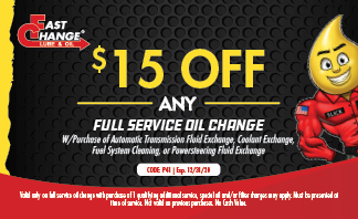$15 Off Any Full Service Oil Change