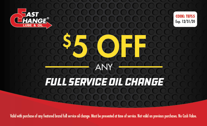 $5 Off Any Full Service Oil Change