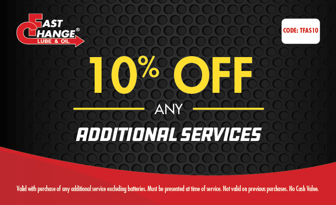 10% Off Any Additional Services
