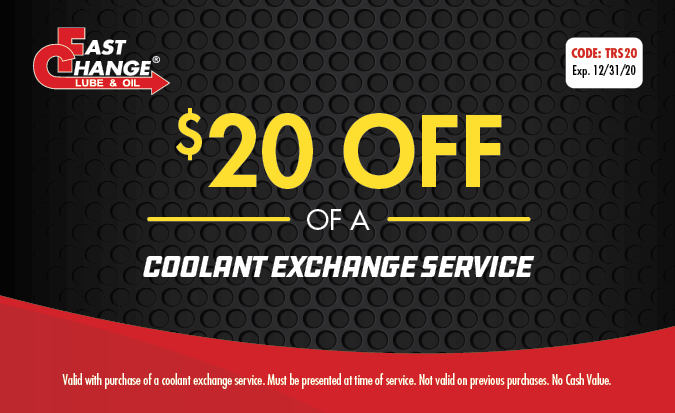$20 Off of a Coolant Exchange Service