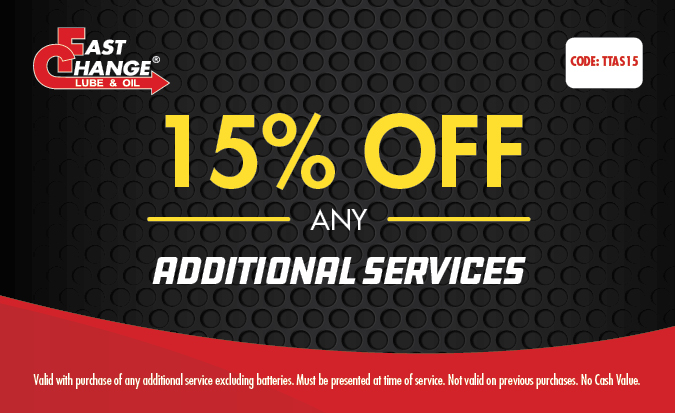 15% Off Any Additional Services