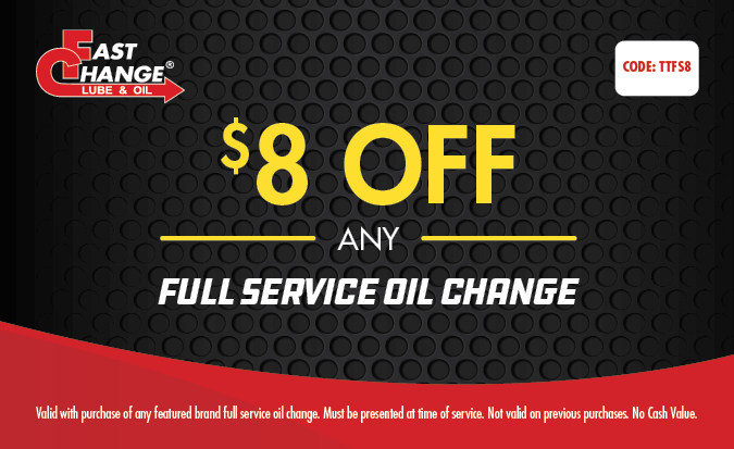 $8 Off Any Full Service Oil Change